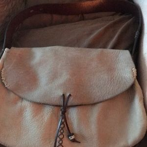 Soft distressed leather bag